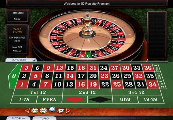 Online 3D Roulette casino game