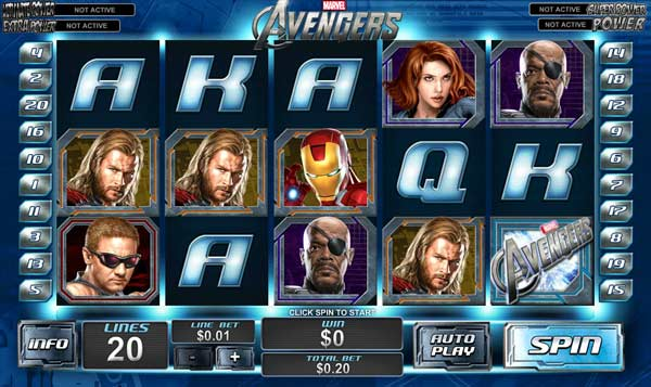 the avengers online slots game