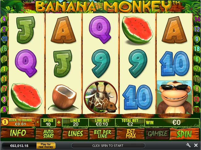 Banana Monkey Video Slot Game