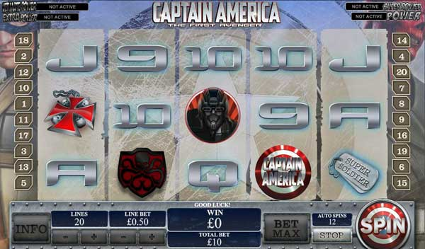 Captain America Online Slots Game