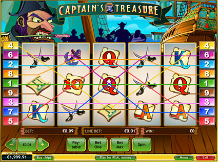 Captain's Treasure - Video Slots