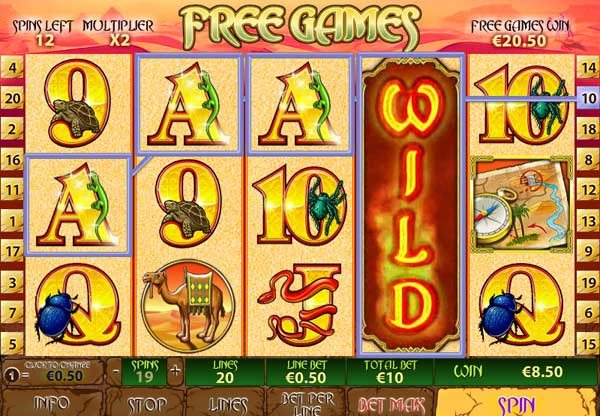 Desert Treasure Free Spins