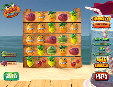 funky fruits online slots game
