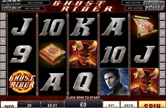 ghost rider marvel slots