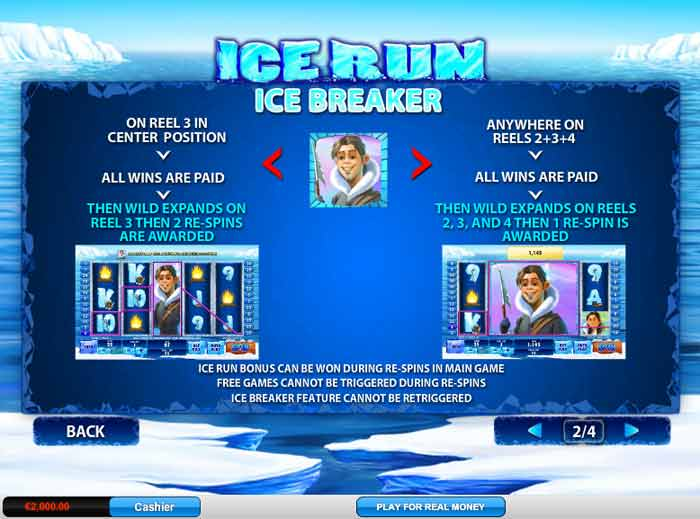 ice run video slot bonus