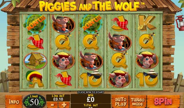 piggies and the wolf slots game
