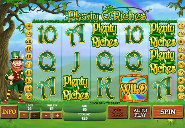 plenty o riches video slots game