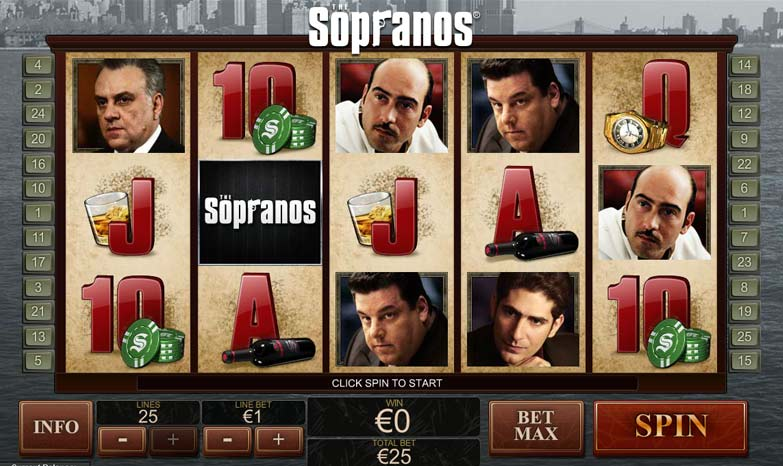 The sopranos slots screen