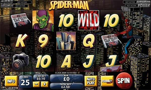 spiderman playtech marvel slots