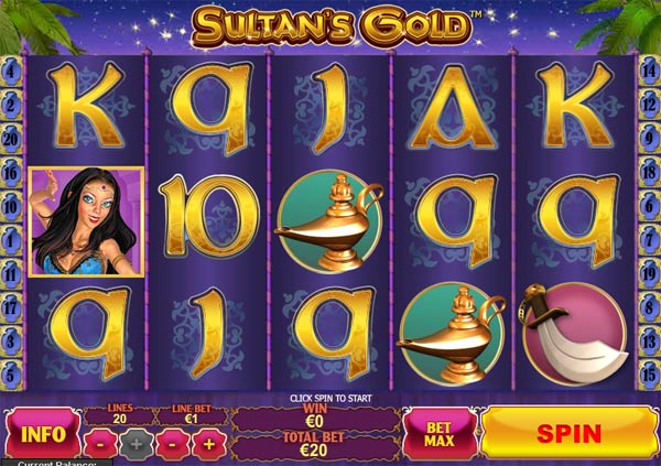 Sultans Gold video slot