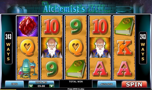 the alchemists spell online slot