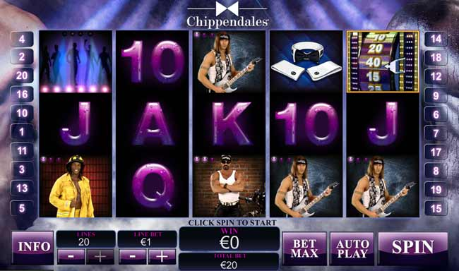 the chippendales slot game