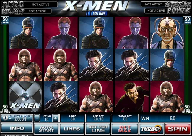50 payline x-men